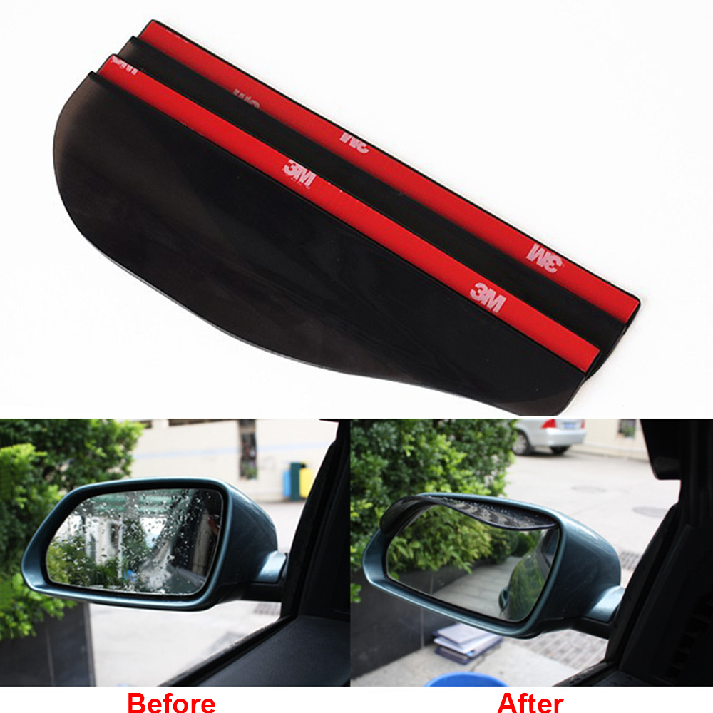 Car Truck Rear View Eyebrow Side Mirror Water Rain Snow Shield Shade Cover Board Sun Visor Shade Shield Auto Rainproof Eyebrow цены онлайн