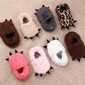 La Pata de la Felpa del bebé Primeros caminante Del Niño Niñas Niños Zapatos de Prewalker Bebés Invierno Sapatos