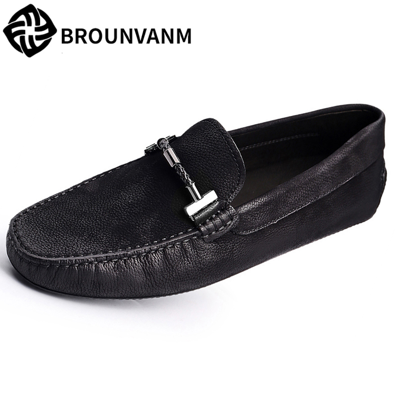 spring autumn summer Genuine Leather shoes male all-match cowhide loafer men casual shoes men's Driving shoes soft lazy vesonal driving brand genuine leather casual male shoes men footwear adult 2017 spring autumn comfortable soft driving for man