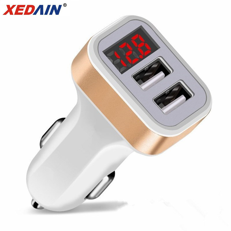 Usb-Car-Charger Charge-Adapter Digital-Display Micro-Usb-Cable Huawei Xiaomi 2 For 1M