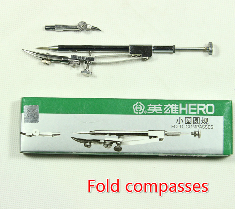 Hero H2032 Small Circle Compasses Professional Graphics Drawing Tools Accurate Fold Compass School Compasso Escolar Scolaire