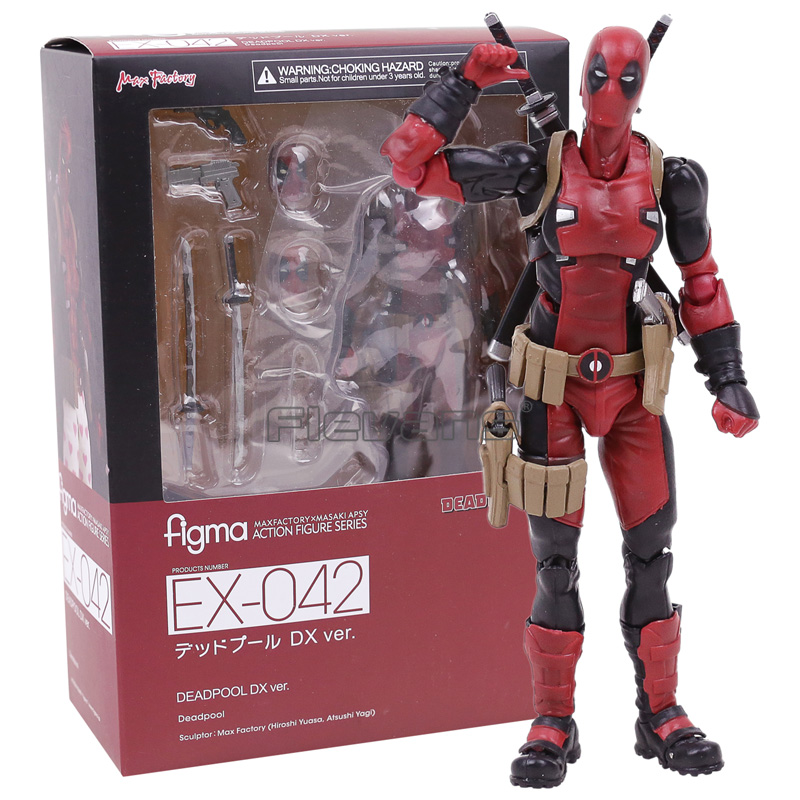Figma EX-042 Deadpool DX Ver. Moveable Figure Collectible Model Toy 14cm super sonico supersonico movable figma figma ex 023 pvc action figure collectible model toy children toy gift with box