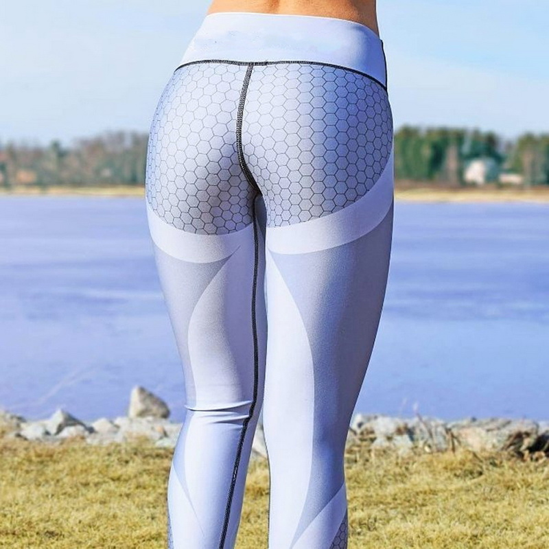 8 colors New Fitness Sport leggings Women Mesh Print High Waist Legins Femme Girls Workout Yoga Pants Push Up Elastic Slim Pants 24