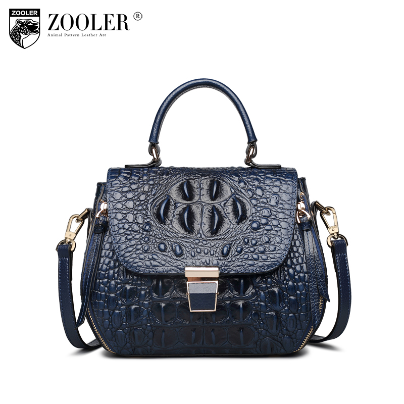 Hot & New ZOOLER Genuine leather Bag woman luxury first line top high quality Tote Bag cowhide shoulder bags pattern style X102 zooler 2017 new arrival genuine leather handbags woman design top quality crossbody bag luxury brand red ladies bags hs 3211