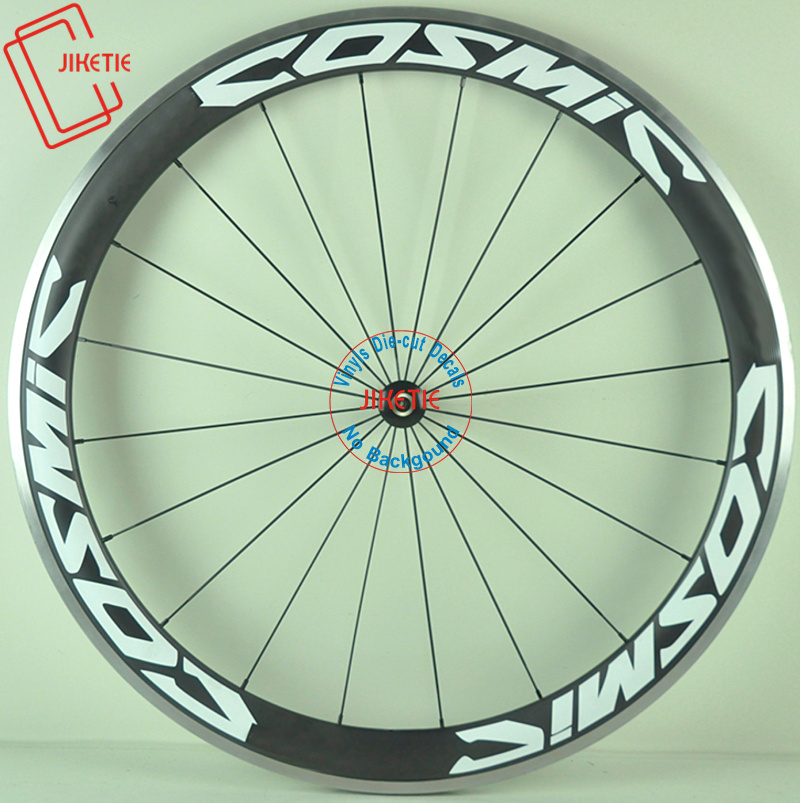 LIGHT-WEIGHT Carbon Bicycle Wheels Stickers Decals Rim Sticker Kit 2Wheels 700C