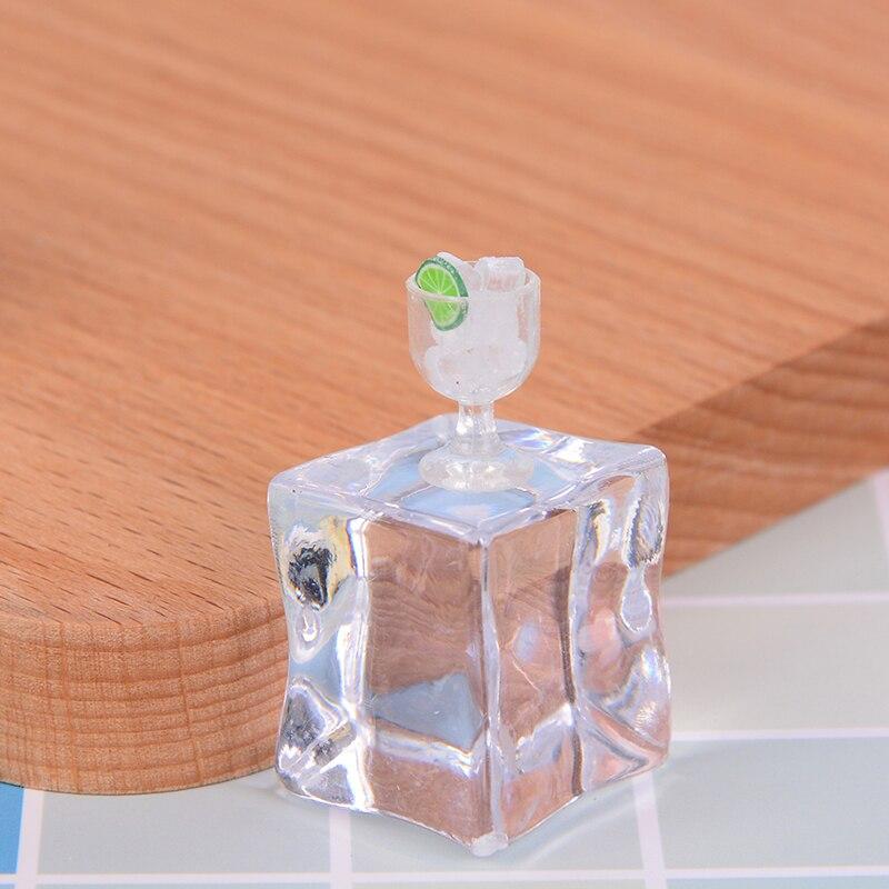 Ice Cube 2Pcs Dollhouse jouet miniature mini Food Cup
