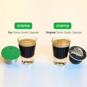Image 5 - 다시 채울 수있는 커피 필터 스테인레스 스틸 재사용 가능한 커피 캡슐 세트 스쿠프 브러시 스트레이너 맛 달콤한 Nescafe Dolce Gusto