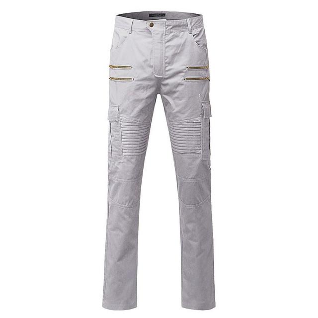 Pantalones casuales Pantalones de Los Hombres 2016 Nuevos Hombres de la Moda Nuevo Diseño de Alta calidad de Mezcla de Algodón Para Hombre Pantalones Rectos de Estilo de Color Sólido de Gran Tamaño