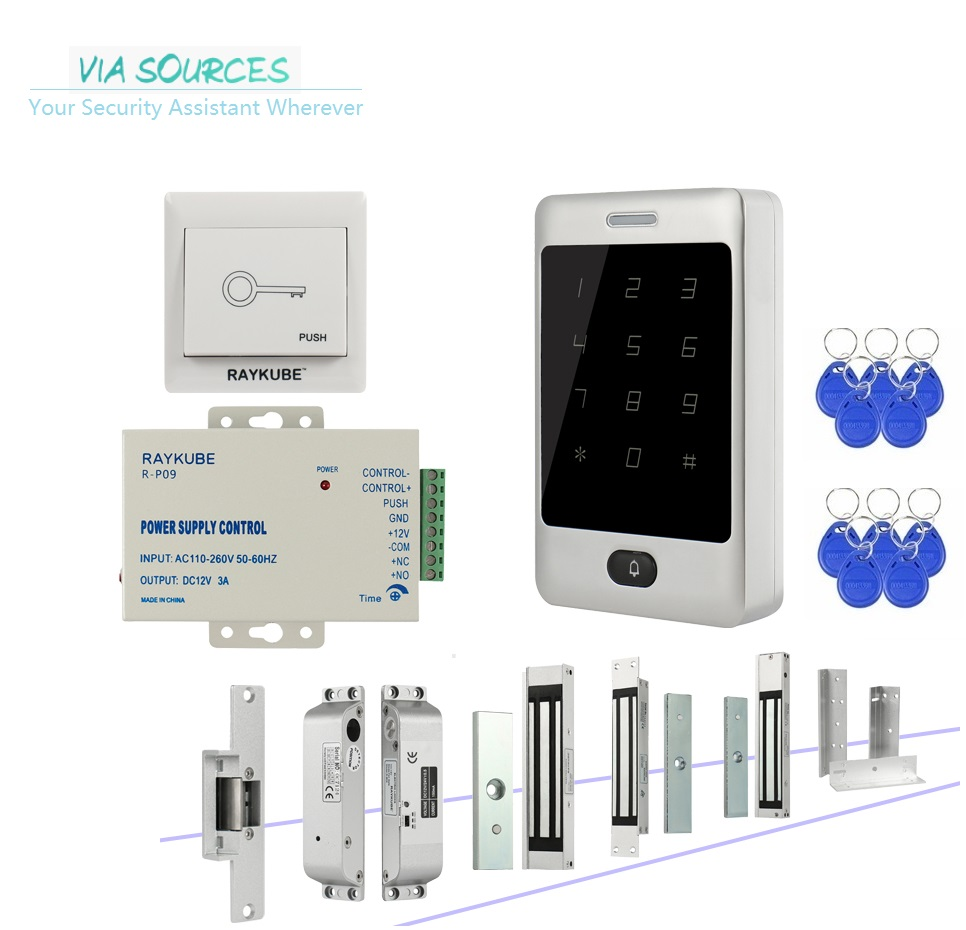 Direct Factory Door Access Control Kit System RFID Keys Electronic locks Kit Set Full Option  With Metal Touch Keypad SecurityDirect Factory Door Access Control Kit System RFID Keys Electronic locks Kit Set Full Option  With Metal Touch Keypad Security