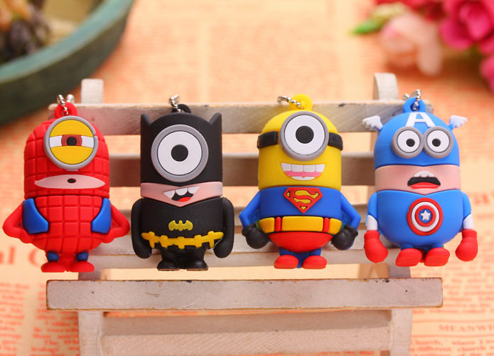 super hero usb flash drive 128GB 64GB 32GB 16GB 8GB minions super pen drive Bat man Memory Stick flash momory