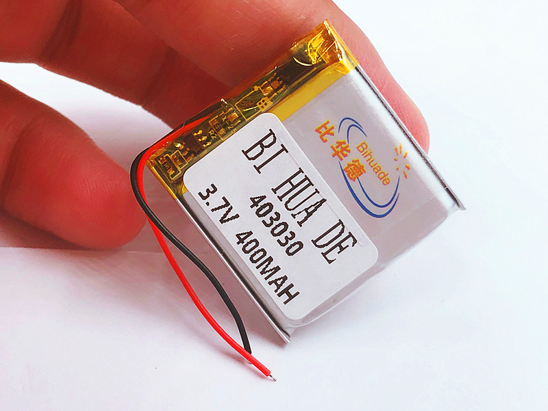 <font><b>3.7V</b></font>,<font><b>400mAH</b></font>,[403030] Polymer lithium ion / Li-ion battery for TOY,POWER BANK,GPS,mp3,mp4,MP5 Smart Watch,Power Bank Speaker image