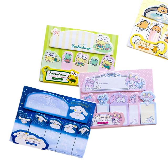 1pack /lot Kawaii Japanese cute cartoon index Sticky Notes Stationery Planner Stickers Memo Pad Cute Notepad Sticker