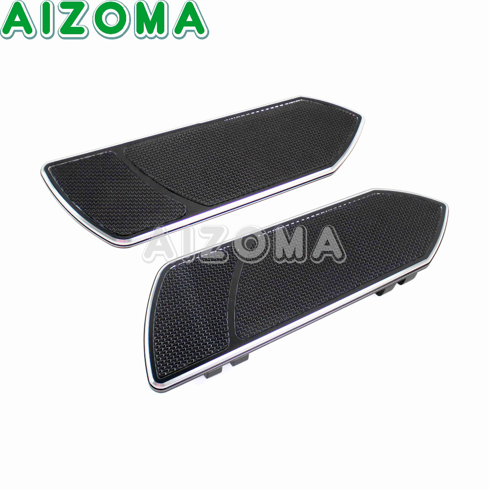 цена For All Years Harley Touring Softails Black Motorcycle Aluminum Foot Pegs Footboard Passenger Diver Floorboards Rear boards
