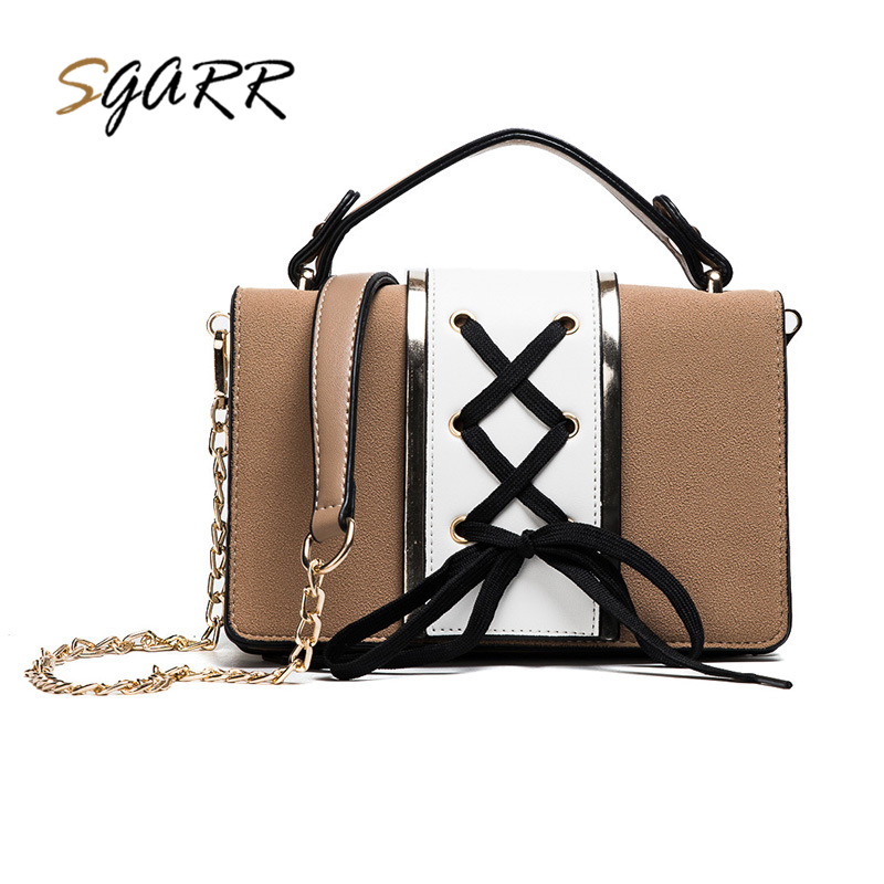 SGARR Famous Brand Chain Leather Shoulder Messenger Bag Women Luxury Women Bag Designer Female Small Crossbody Bag Fashion Purse luxury flower fashion design pu leather women s chain purse shoulder bag handbag female crossbody mini messenger bag 3 colors