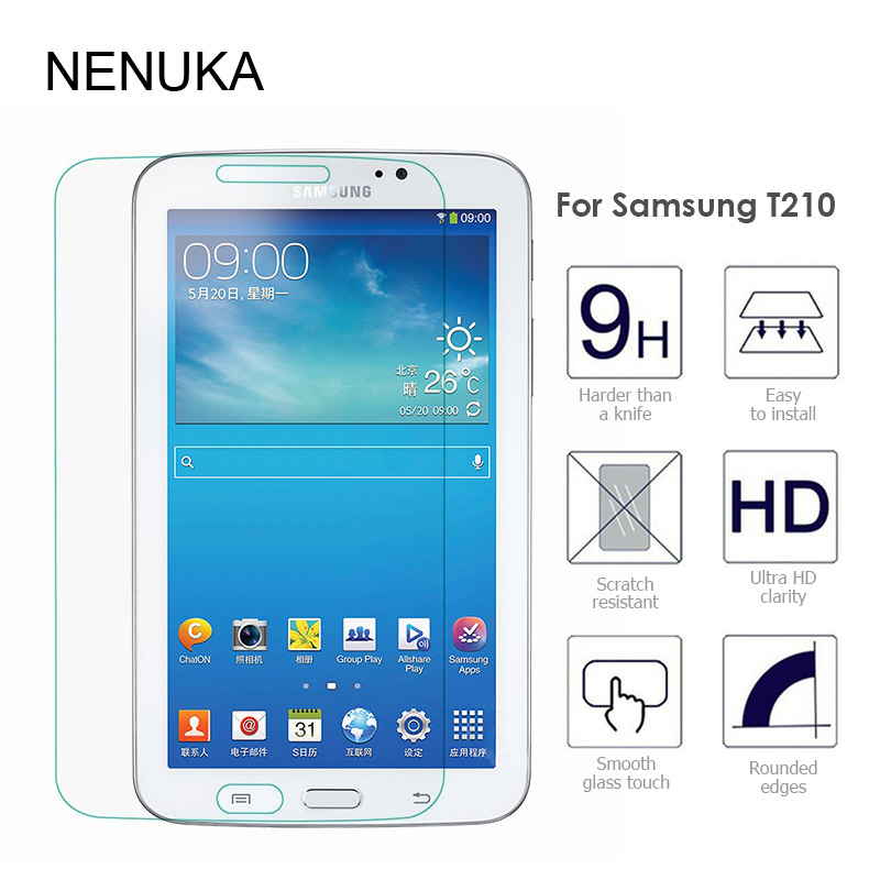 Tempered Glass Screen Protector for Samsung Galaxy Tab3 T210 T211 7 inch Protective Film HD Nano-coating Anti-shock Glass