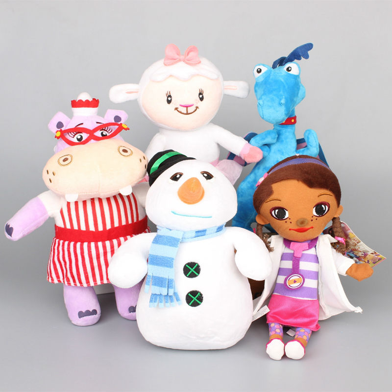4 Different Styles Doc Mcstuffins Clinic Stuffed Plush Toy Soft Doll For Children Brinquedo Girl Birthday Gifts 26-32 cm