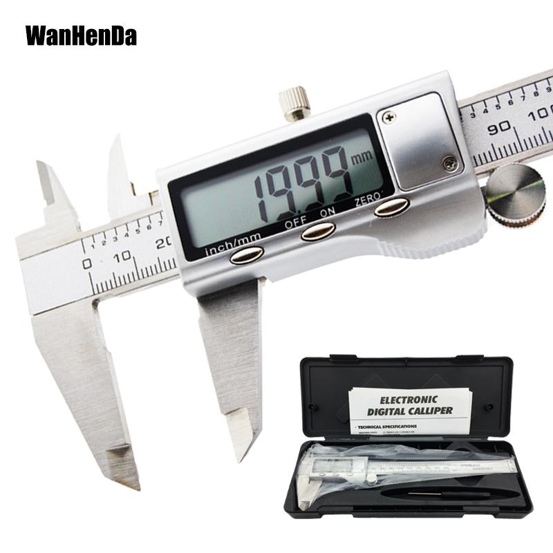 Stainless steel metal Digital Vernier Caliper 150mm High quality Precise Electronic Ruler Measuring tool instruments micrometer
