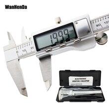 Металлический цифровой штангенциркуль из нержавеющей стали 150 мм, Высококачественная Точная электронная линейка, измерительный инструмент, микрометр