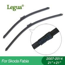 купить 1 set Wiper blades for Skoda Fabia(2007-2014),21+21,car wiper,Boneless wiper, windscreen, Car accessory дешево