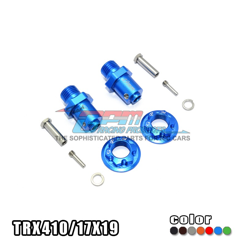 TRAXXAS TRX-4 TRX4 82056-4 aluminum alloy hex adapter front/rear all can be used 17mm six angle /19mm long -set TRX410/17X19 traxxas trx 4 trx4 82056 4 alloy adapters front rear all can use hex 17mmsix angle 19mm long set trx4 17x19 2