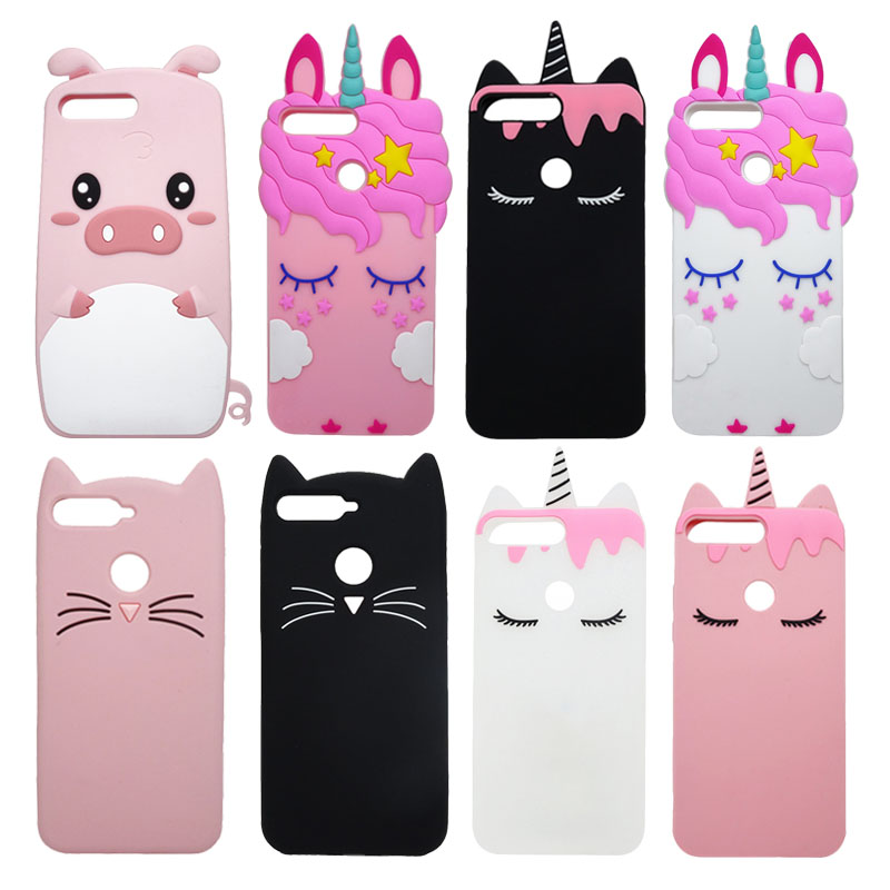 Galleria fotografica For Huawei Y6 Prime 2018 Case Cute 3D Cartoon Soft Silicon Mobile Phone Back Cover Case For Huawei Y6 2018 Y 6 Prime 2018 Funda
