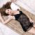 Lisacmvpnel Espaguetis Correa Del Cordón Con El Cojín de Las Mujeres Conjunto de Blackless Sexy Mujeres Ropa de Dormir Camisón + G-string