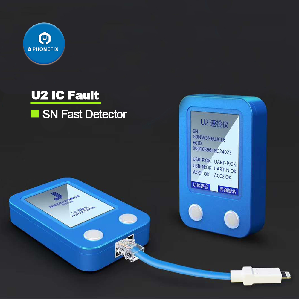 JC U2 Fast Detector for iPhone U2 Charge IC Fault Fast Tester SN Serial Number Fast