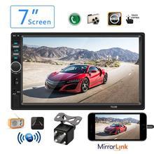 Радио 2 din Автомобильная Радио 7 «HD Авторадио мультимедийный плеер 2DIN сенсорный экран Авто аудио стерео MP5 Bluetooth USB TF FM камера