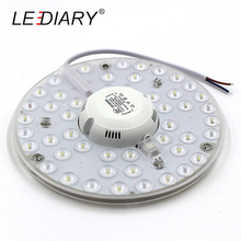LEDIARY New 2D Replaceable LED Light Source For Ceiling Lamp 24W 180V-240V With Magnet Led Lights Replacement PCB With Driver