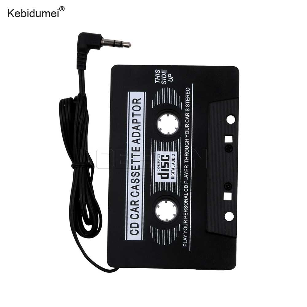 Kebidumei Zwarte Auto Cassette Adapter Disc Digital Audio Tape voor iPod/MP3/CD/Dvd-speler Alle Audio apparaten Hoge Kwaliteit