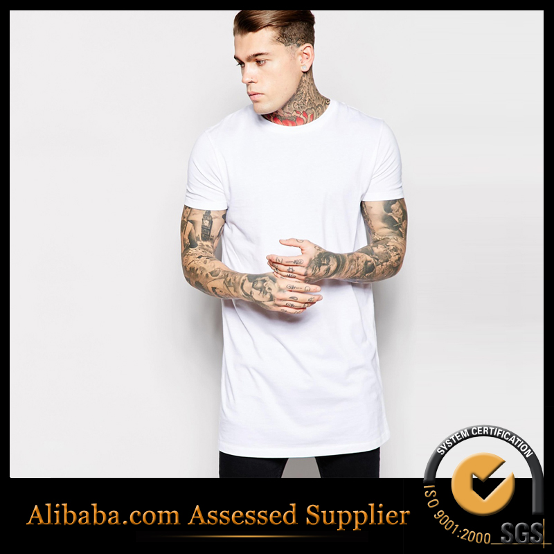 Brand men long t shirt hip hop t shirt solid white short for Hip hop t shirts big and tall