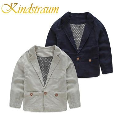 Kindstraum 2017 Új gyerekek fiúk Blazers pamut és vászon kabátok - Gyermekruházat