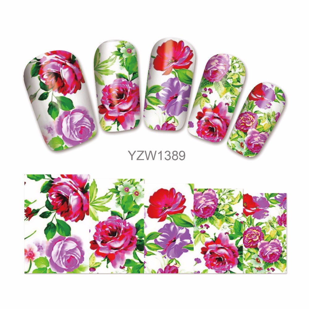 Fwc Water Transfer Nail Art Sticker Decal Foil Adhesive Manicure