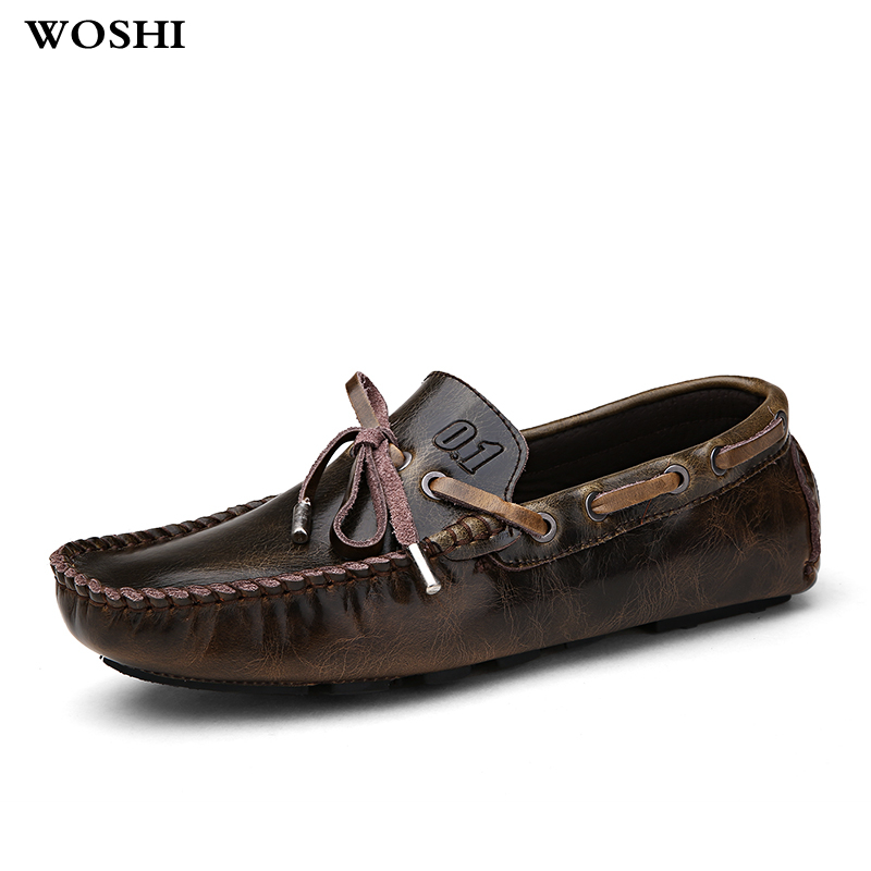 Men Shoes Genuine Leather Mens Loafers outdoor Moccasins fashion Handmade sewing Slip On casual Boat Shoes Classical Homme L5Men Shoes Genuine Leather Mens Loafers outdoor Moccasins fashion Handmade sewing Slip On casual Boat Shoes Classical Homme L5
