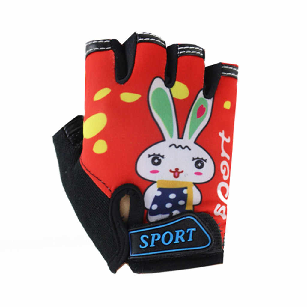 Cycling Gloves MTB Road Gloves Mountain Bike Half Finger Gloves Children Summer Bicycle Gym Fitness Non-slip Sports Gloves