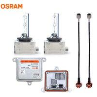 OSRAM Xenon HID Kit Set for D1 System 2X 66144CBI D1S Bulbs + 2X 35XT6 35W XENAELECTRON Ballasts + 2X High Voltage Cables