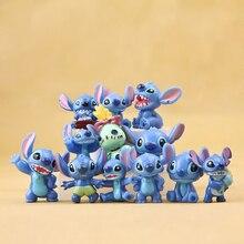 Figuras de acción de Stitch, Mini juguete de 3cm, 12 Uds., regalo de Navidad y muñecas, suministro para decoración de fiesta, MicroToys