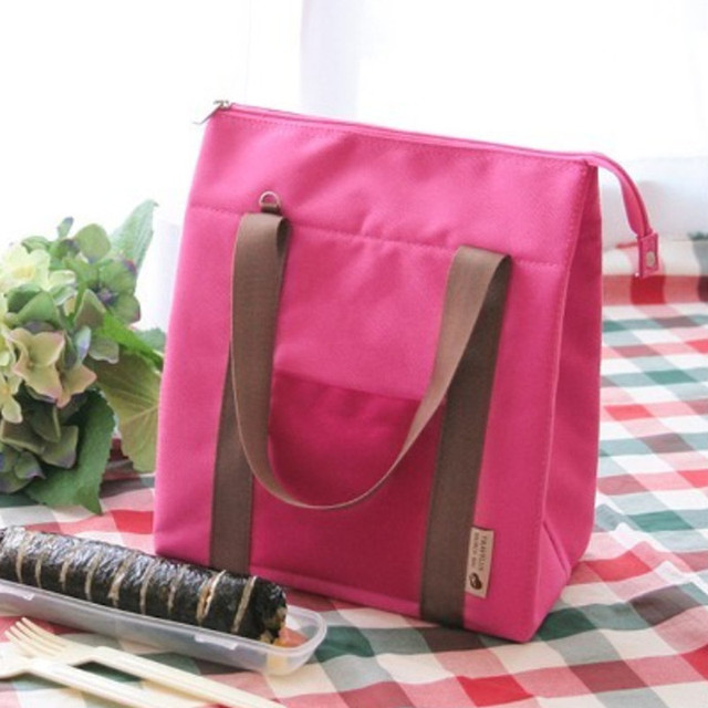 Casual Thermal Insulated Cooler Lunch Travel Tote Waterproof Bento Pouch Lunch Container Picnic Shoulder Bag Crossbody