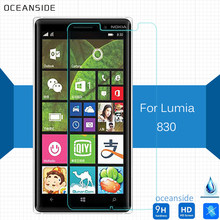 2Pcs For Nokia lumia 830 Tempered Glass Screen Protector 0.26mm Cover Film on Tesla Gold Latam Nam 4G Lte(China)