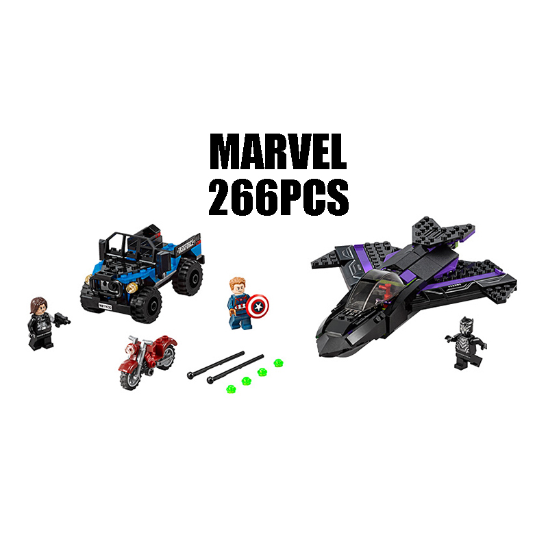 Compatible with Lego marvel 76047 model 07033 super heroes movie building blocks Black Panther Pursuit Figure toys for children compatible with lego ninjagoes 70596 06039 blocks ninjago figure samurai x cave chaos toys for children building blocks
