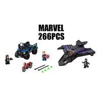 WAZ Compatible Legoe Marvel 76047 Lepin 07033 Super Heroes Movie Building Blocks Black Panther Pursuit Figure