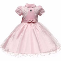 Baptism Girls Dress Baby Princess Dresses Summer 2017 Birthday Party New Petal Kids Clothes For Flower
