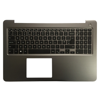 100% NEW UK Backlit laptop keyboard for DELL INSPIRON 15 5565 5567 with palmrest upper cover gray frame