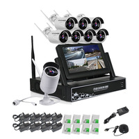 8CH CCTV System Wireless 1080 NVR 8PCS 1 3MP IR Outdoor Waterproof P2P Wifi Home Security