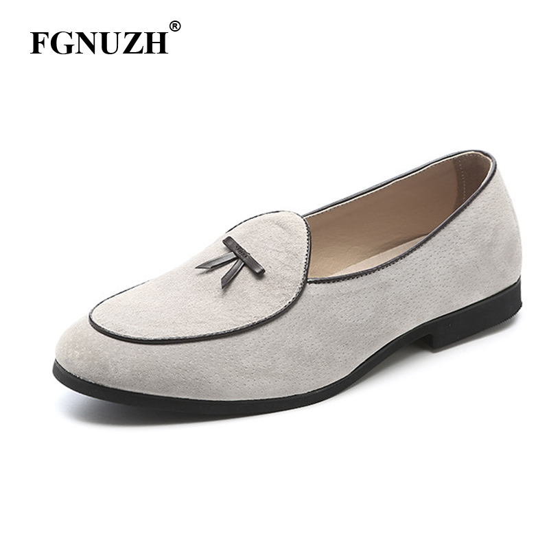 FGNUZH Luxury Soft Moccasins Men Loafers High Quality Genuine Leather Shoes Men Flats Gommino gentlemen Driving Shoes ST378(China)
