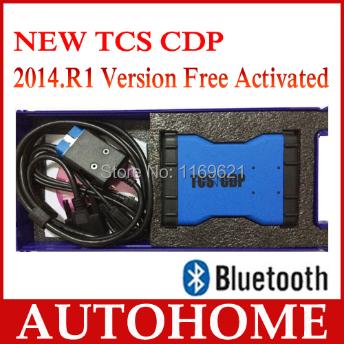 2PCS/LOT,Legal 2014 Quality A 2014.R2 or R3 Free Activated TCS CDP PRO Plus Diagnostic Too+BLUETOOTH+Box free dhl shipping