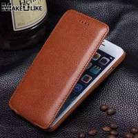 Vertical Genuine Leather Flip Case For Apple Iphone 6 6s 4 7 Luxury Card Cover Magnetic