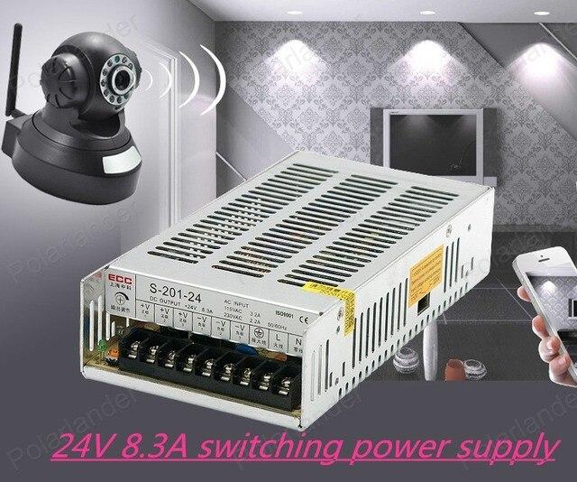 Led Импульсный Источник Питания 24 В 8.5A 200 Вт AC100V/220 В к DC24V Трансформатор Привело адаптер Драйвер Привело полосы света
