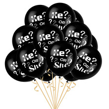 10pcs/lot 12inch He OR She Latex Balloon Gender Reveal Party Boy Or Girl Baby Shower Birthday Supplies