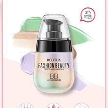 3 цвета, основа для макияжа, осветляет кожу, легкий дышащий освежающий увлажняющий крем для макияжа